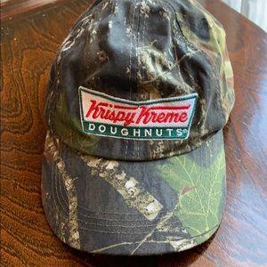 Accessories - Krispy Kreme camo hat never worn.   Adjustable